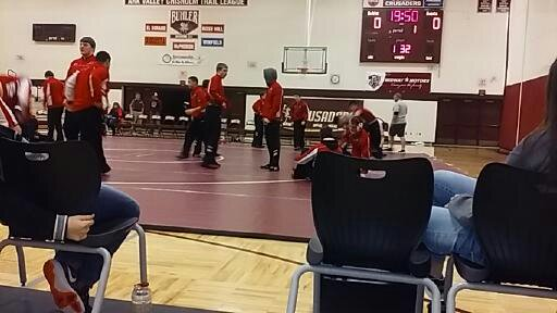 McPherson Wrestlers prepare for their dual against Andale