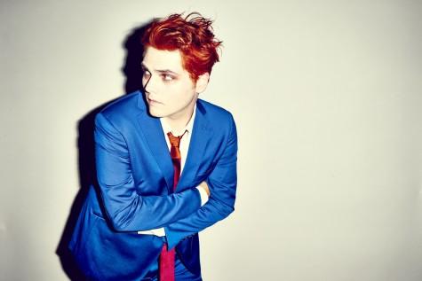 """Singer Gerard Way with his """"Hesitant Alien,"""" look."""