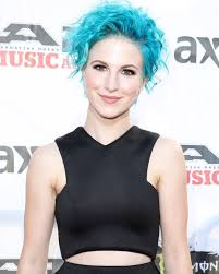 Hayley Williams with her striking blue hair.