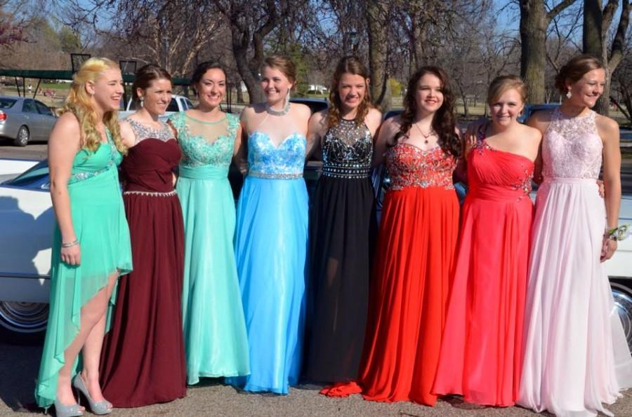 From right to left: Katie Wurm, Sarah Houston,  Jessica Wylie, Ashtynn Unruh, Olivia Hansen, Lindsey Moore, Abby Denshaw, Monet Kunde, pose for a picture