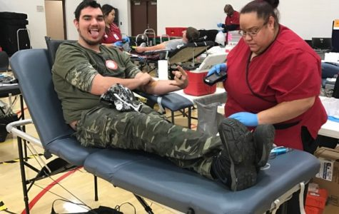 Students Help With Blood Drive
