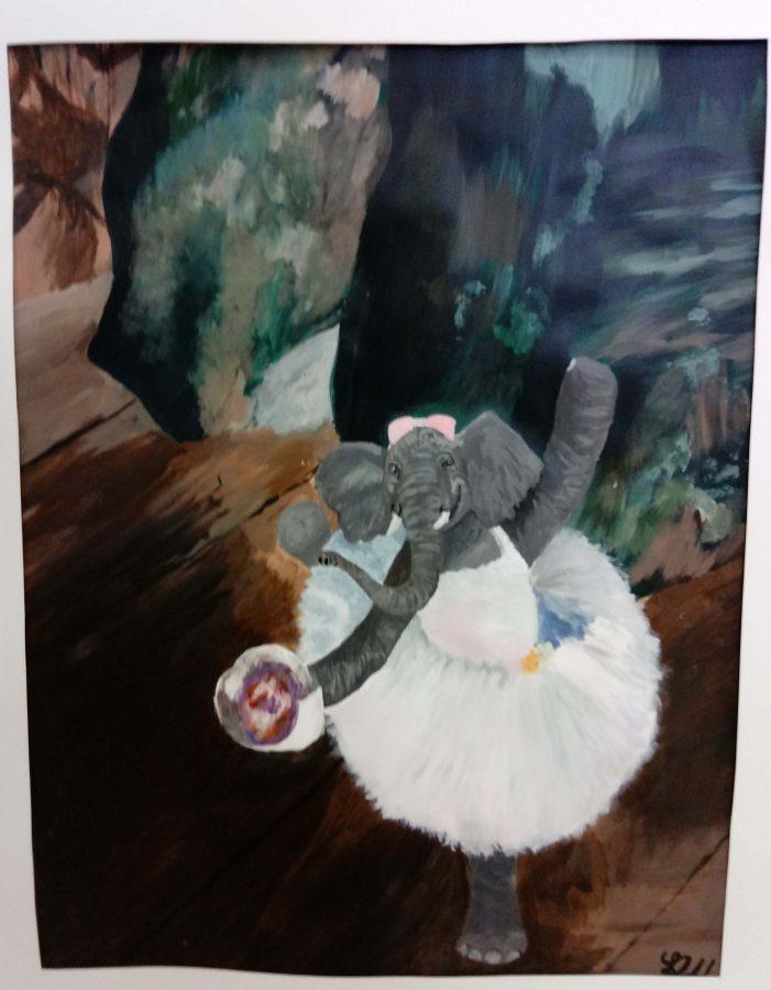 Rachel Hendrick, 11th grade, Opaque Painting