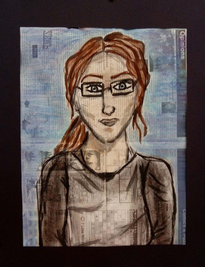 Laynee Schroeder, 9th grader, mixed media