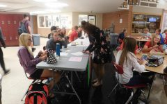 Students signing up for clubs