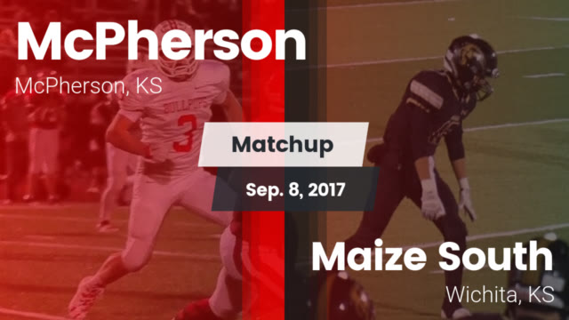 McPherson+Bullpups+on+the+left+and+Maize+South+Mavericks+on+the+right.