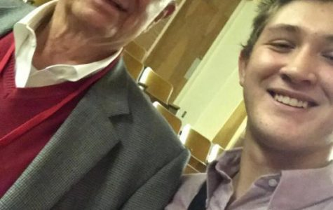 Bailey Yarborough in a selfie with Mayor Tom Brown.