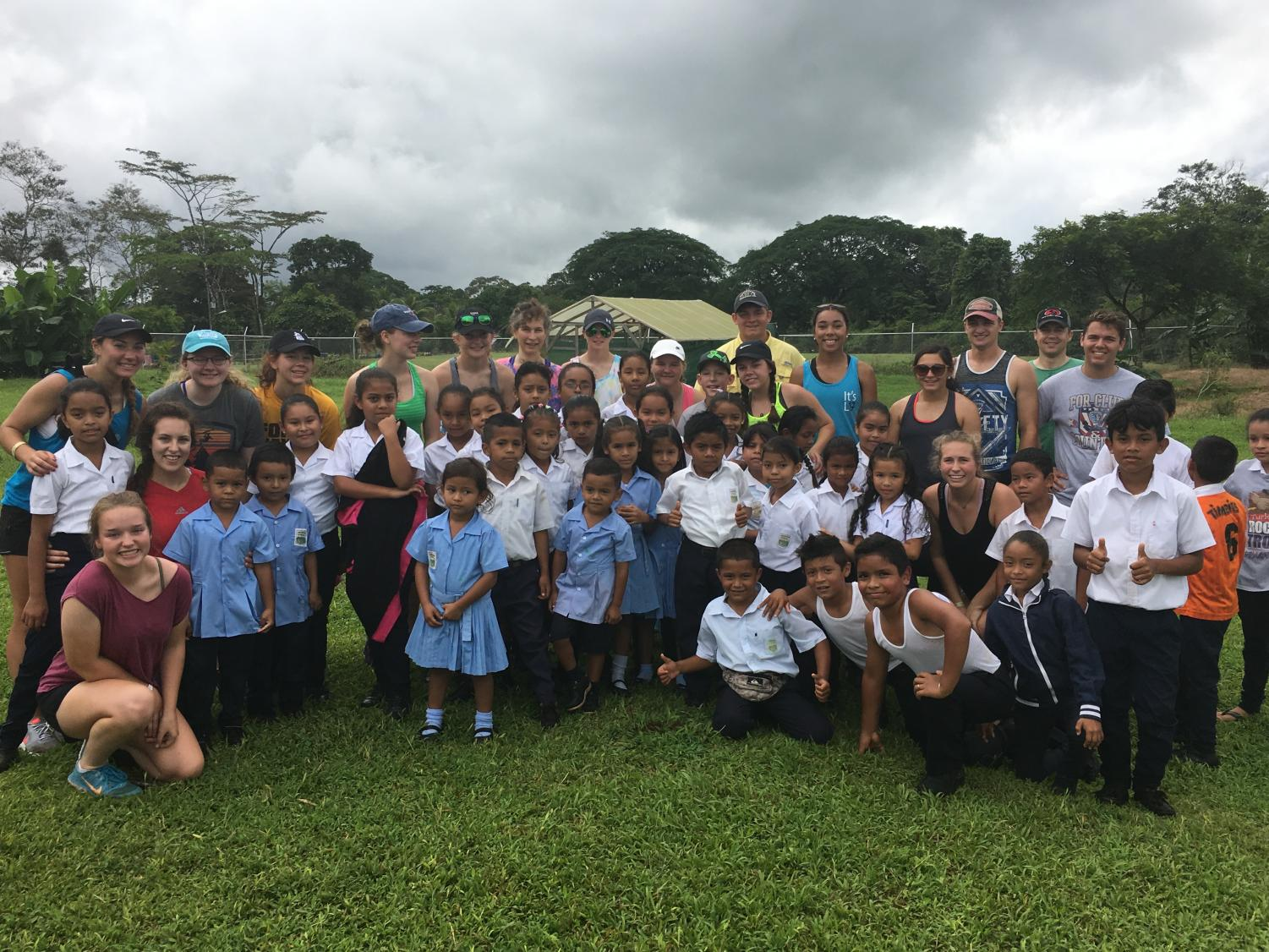 Students with School Children in Costa Rica