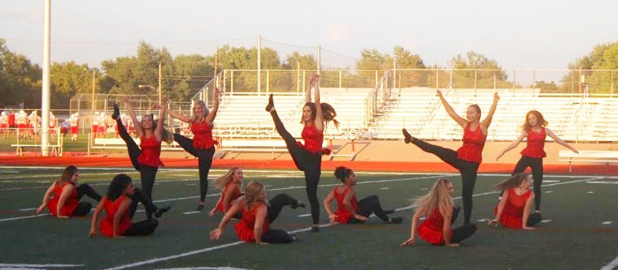 The Hi-Steppers performing at the Fall Sports Preview.