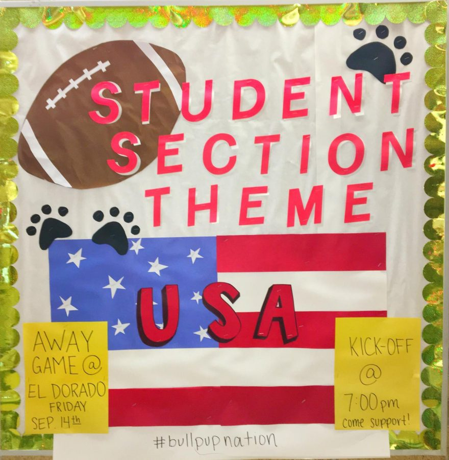The Student Section Theme board.