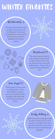 Winter favorites info graphic.