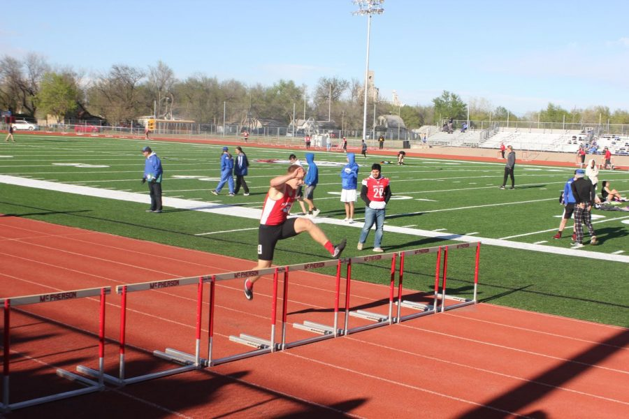 Brycen+Labertew+supports+his+school+by+participating+in+the+track+meet+on+April+18th.+