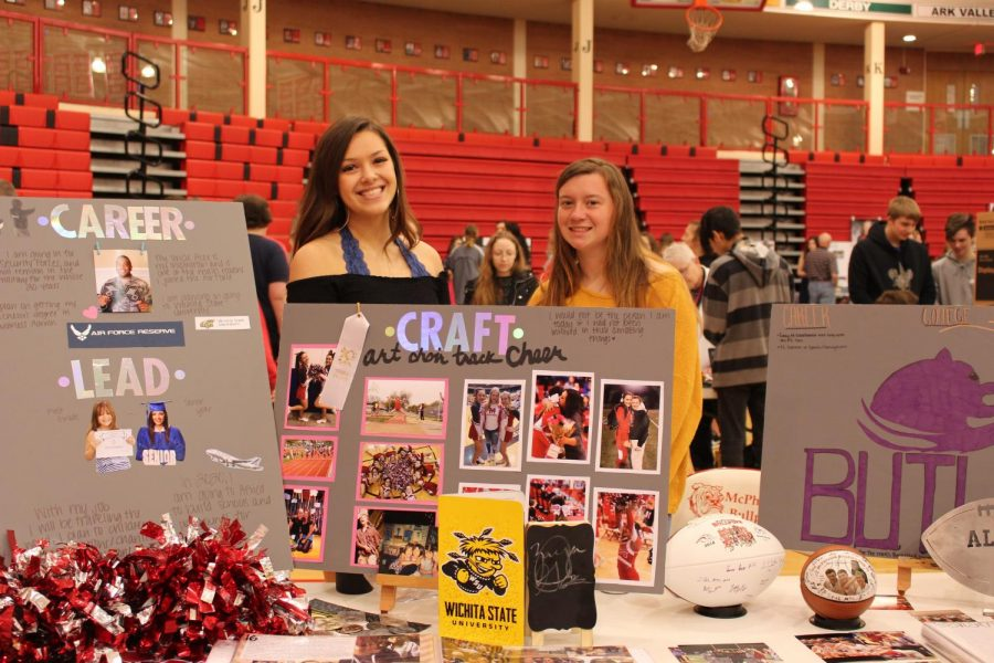 Two MHS students showcase the sports they participated in and the colleges they are attending.