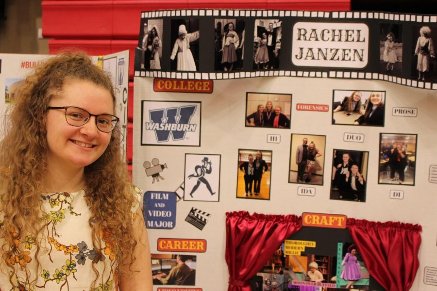 Rachel Janszen's showcase shows her big involvment in the arts.