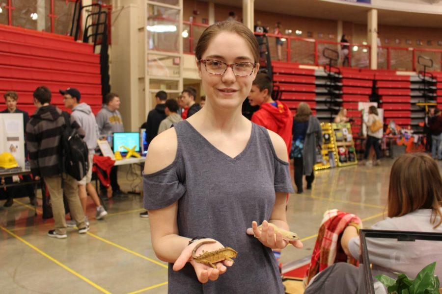 Alexandra Hicks shows her great interest in animals.