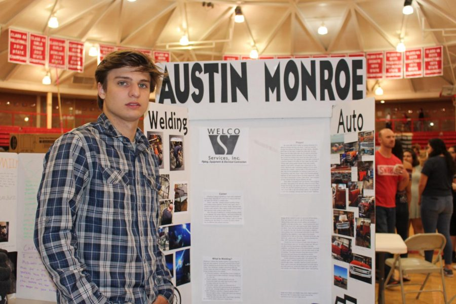 Austin Monroe's showcase shows his experience in auto and welding.