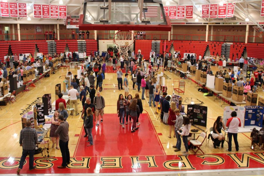 The MHS senior showcase gave seniors a chance to show off their acomplishments throughout their years at MHS.