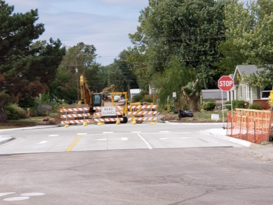 The road behind McPherson High school mostly opened but not completely