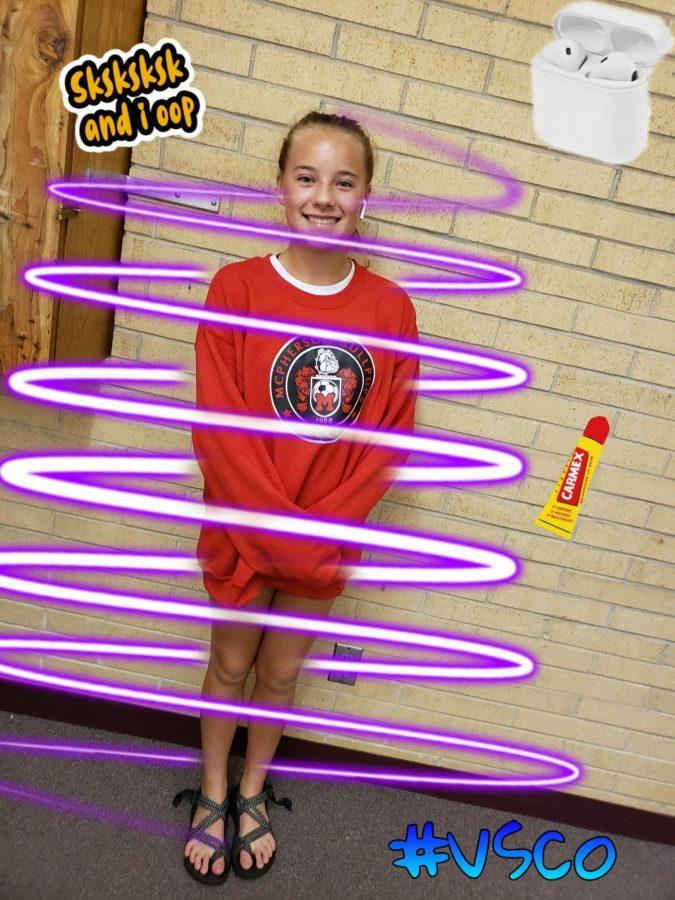 9th grader Emily Heskett as a VSCO girl
