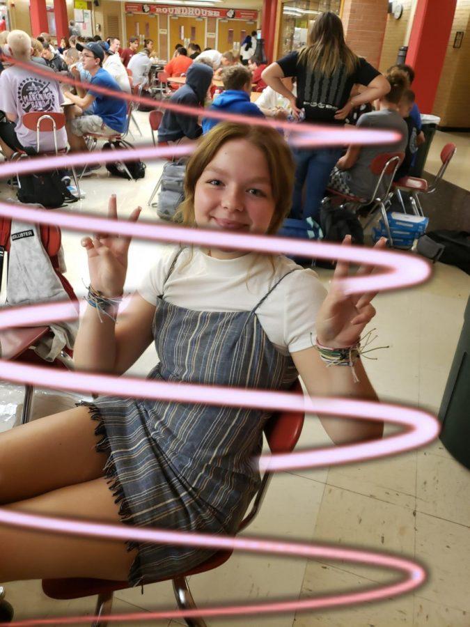 9th grader Chloe Hall as a VSCO girl