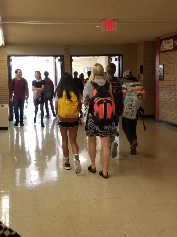 After lunch, the hallways can get crowded with students trying to get to their next class.