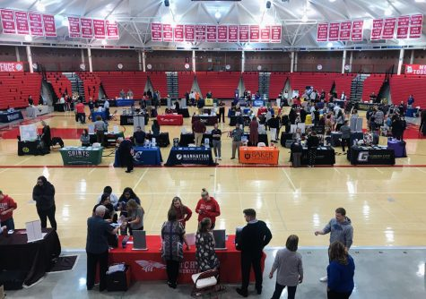 College fair at the McPherson High School gives great opportunities for students to learn more about their school of choice.