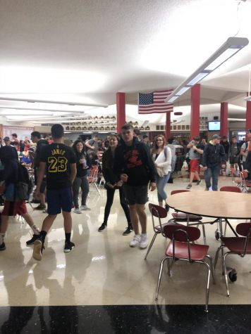 The halls of MHS remain crowded before and after lunch.