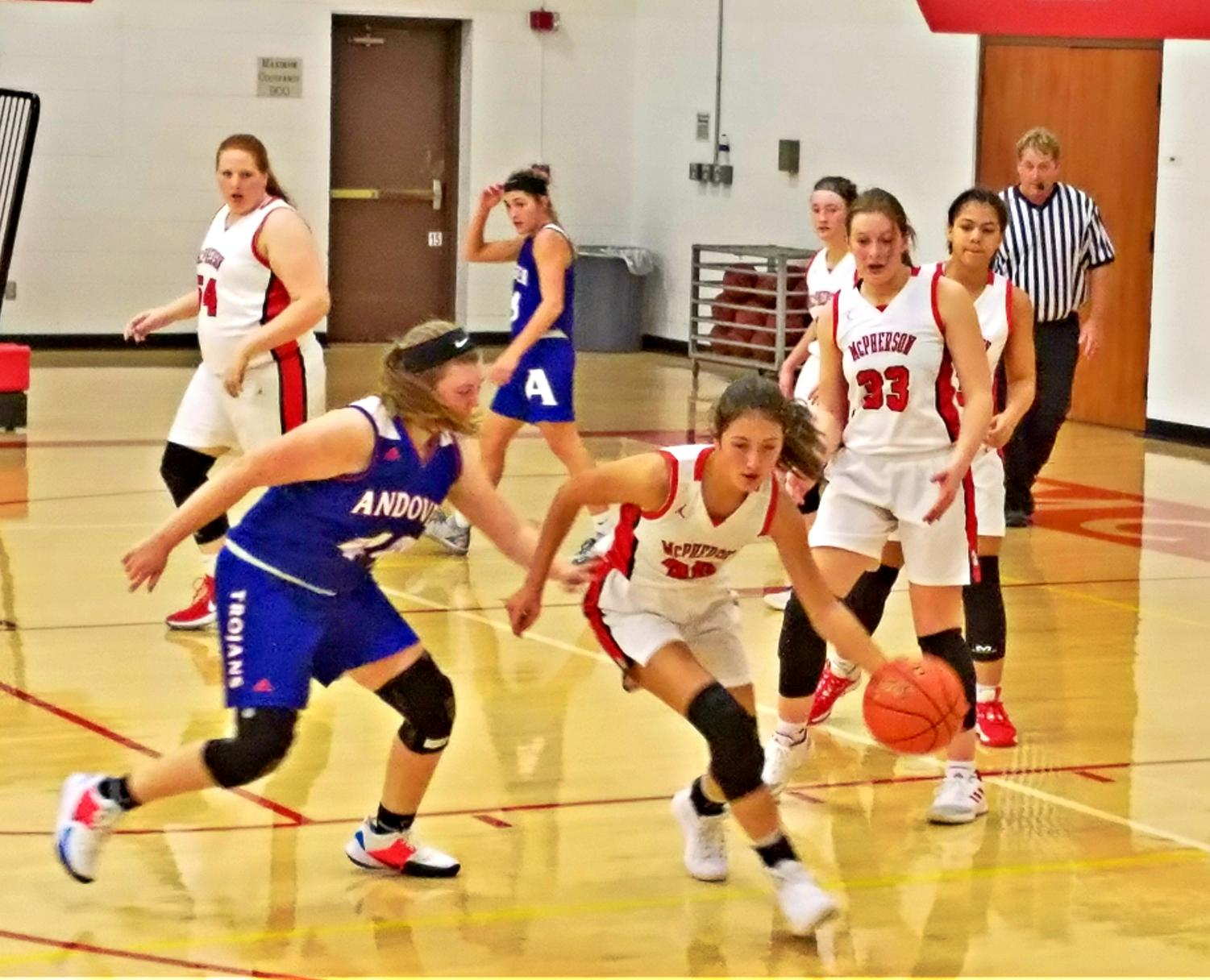 The Girls JV Basketball team played hard against their opponents, the Andover Trojans.