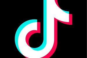 The Tik Tok Social media, video sharing app logo.