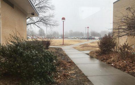 McPherson High School parking lot.