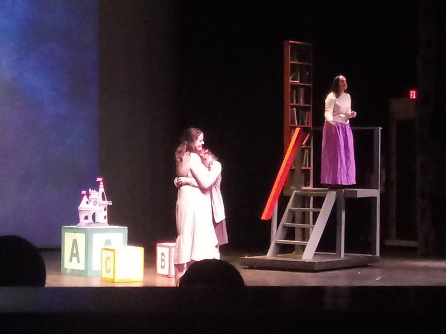 Lily Parker, Josie Strathman, and Tessa Boesker in 'Matilda: The Musical' as the show comes to a close.