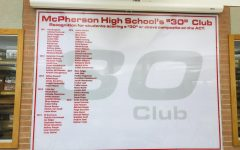 McPherson High School recognizing the students that have scored a