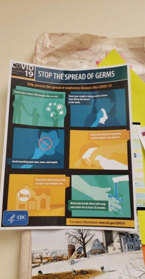 Tips to prevent the spread of coronavirus from McPherson High School nurse's office.