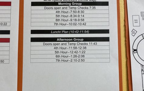 White day hybrid schedule for MHS.