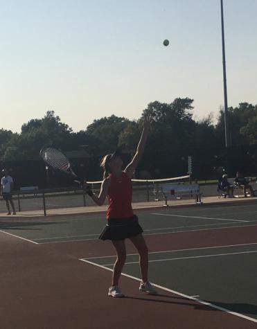 MHS JV Tennis girls at Campus Highschool